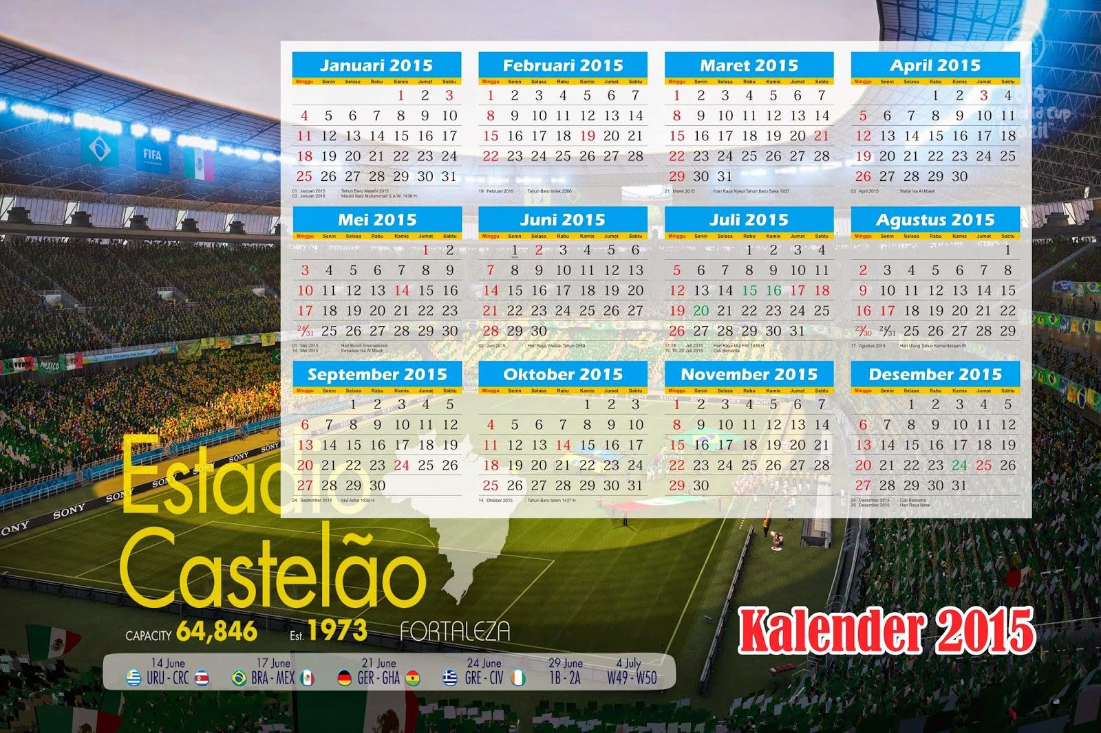 Info Indonesiana: Download Kalender 2015 full CDR format
