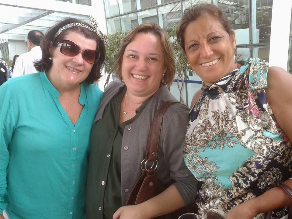 Encontro de amigos no porto de Santos