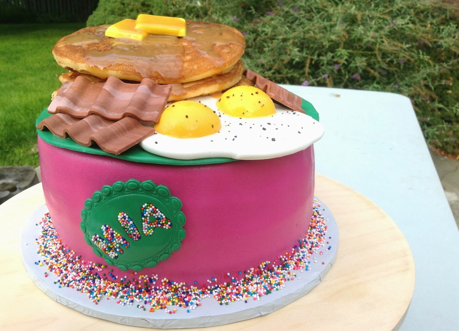 this cake was an absolute blast to put together the cake flavor is ...