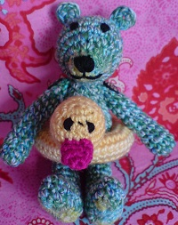 Free Crochet Mini Teddy Bear Pattern : 2000 Free Amigurumi Patterns: Mini Crocheted Teddy Bear