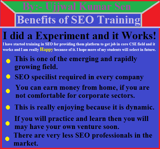 Seven Days Training in SEO for CSE Students, SEO Analyst