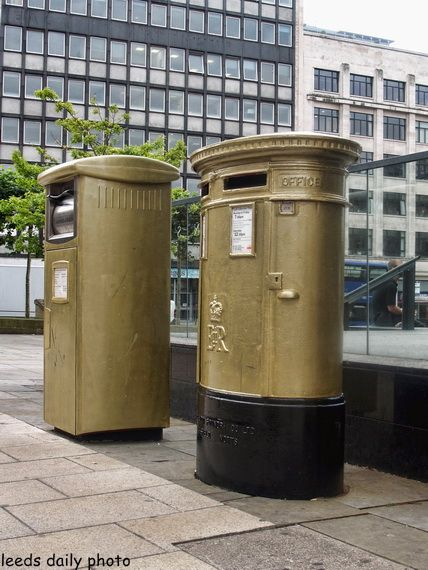 Gold Postbox Leeds