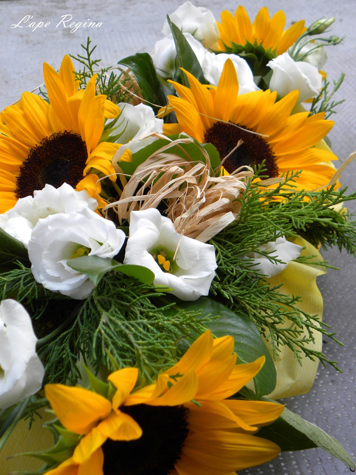 Girasoli Al Matrimonio : Fioreria l ape regina silvia e davide sposi