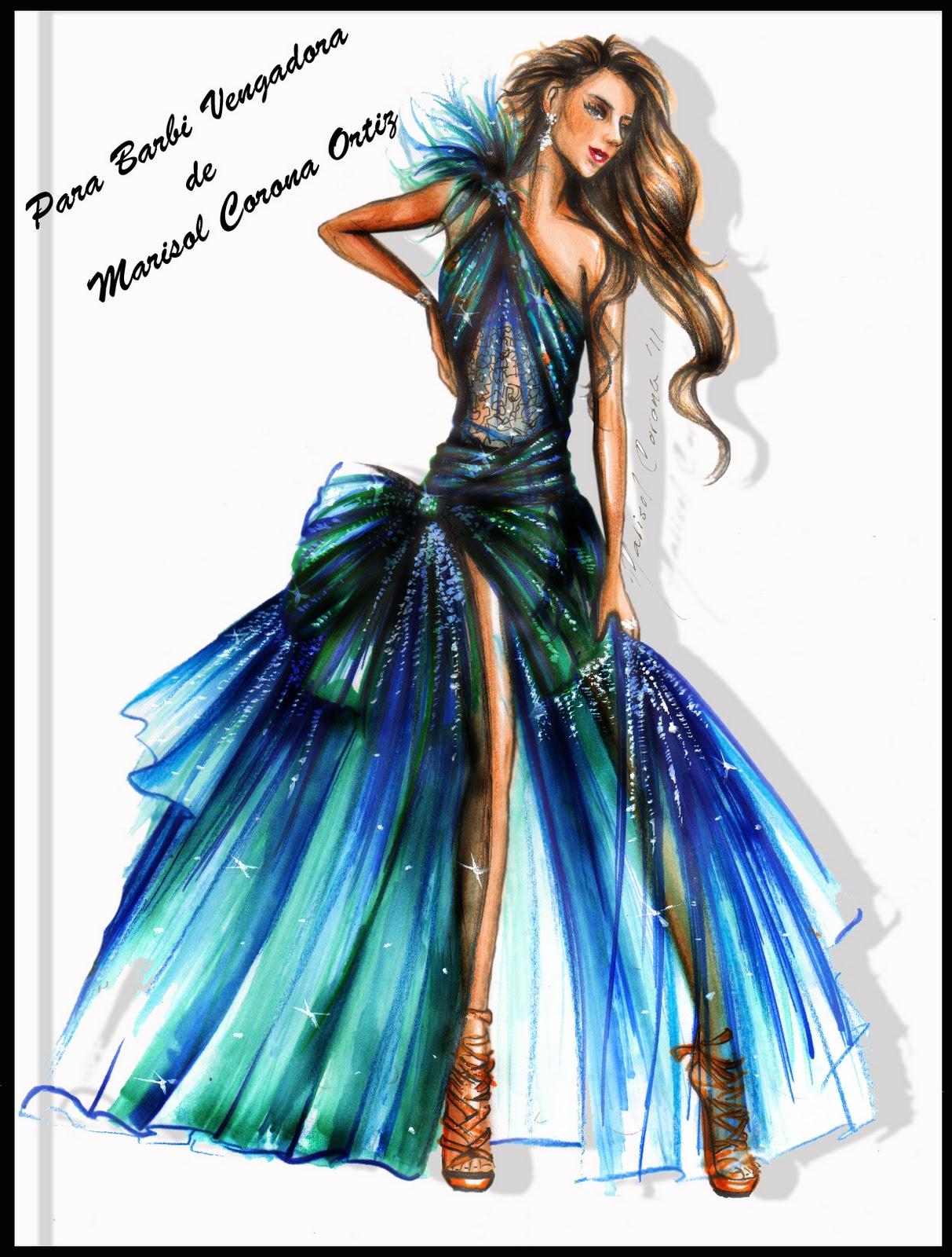 Figurines de moda vestidos de noche