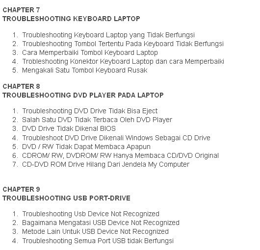 Ebook Memperbaiki Motherboard Laptop.