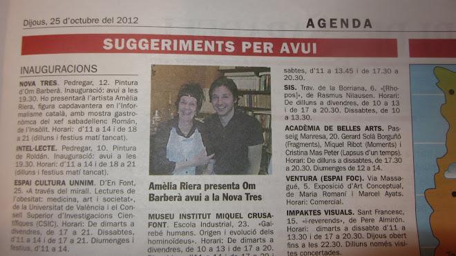 Sortint al diari de Sabadell amb l'Artista Amelia Riera