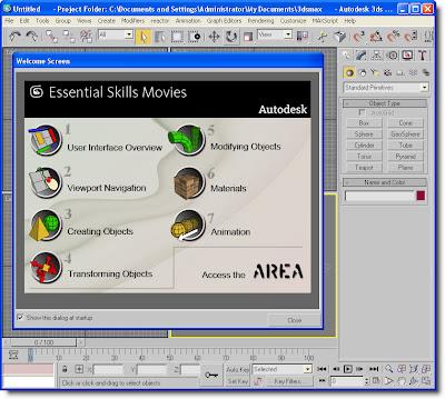 Layar 3Dsmax 9