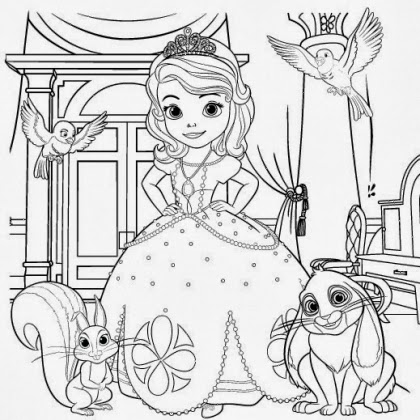 7 princess sofia coloring pages sophia and the first for Sofia the princess coloring pages