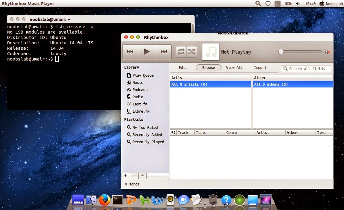 Installing Mac OS X features on Ubuntu 14.04