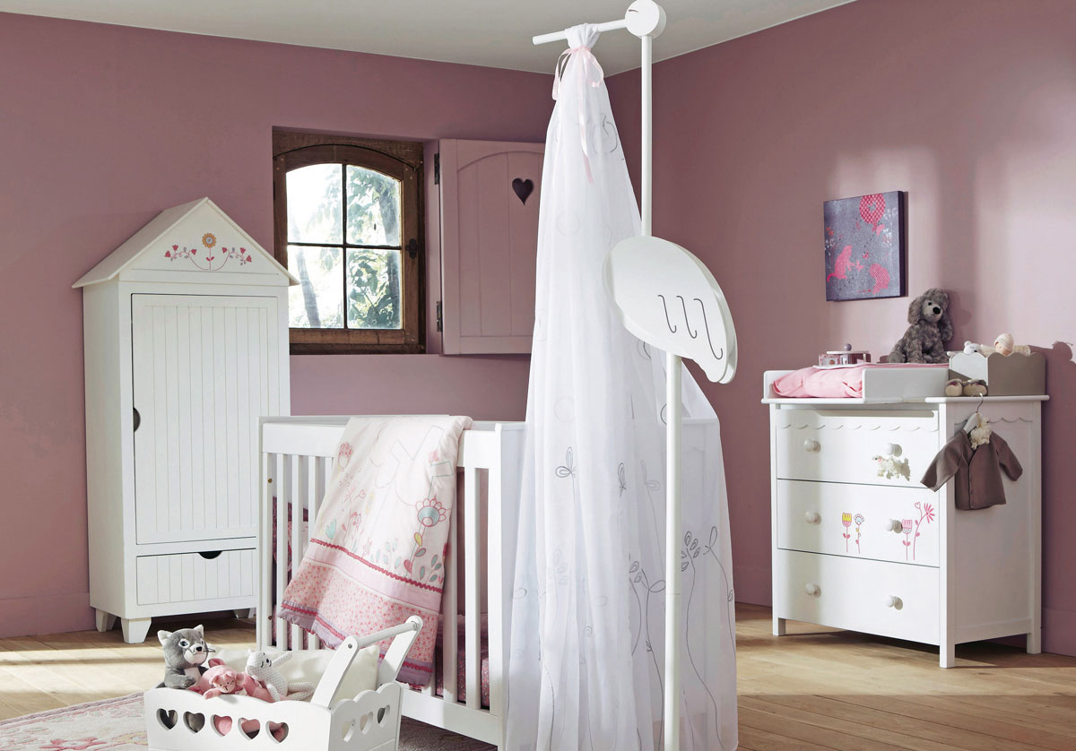 Cute Pink Baby Girl Nursery Room Design Home Design Picture