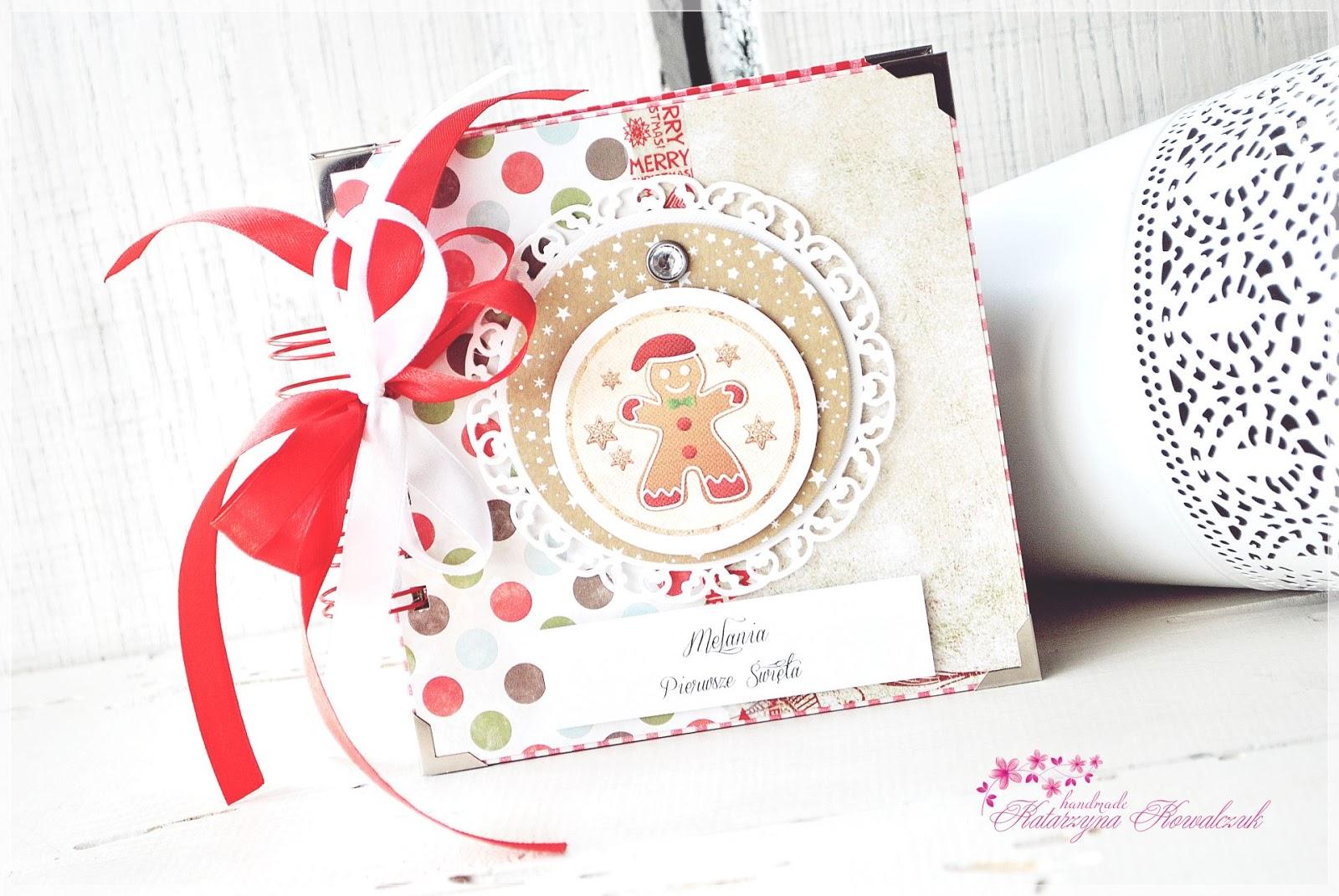 album świąteczny bożonarodzeniowy scrapbooking
