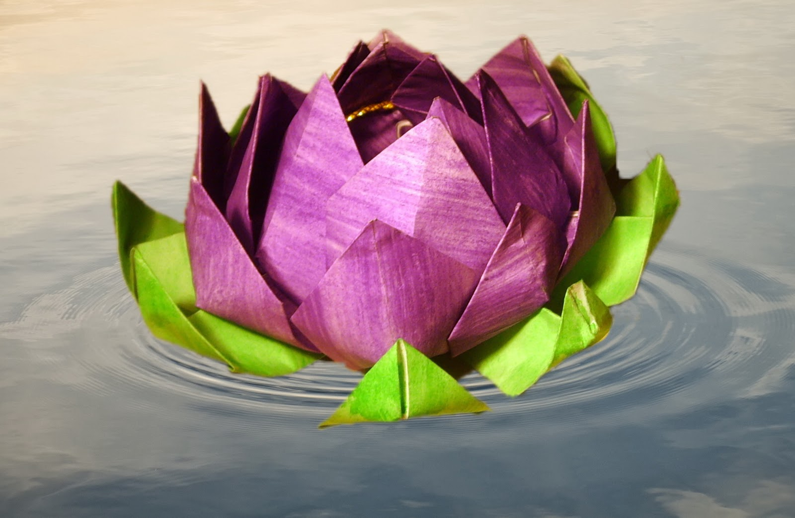 Origami Lotus Flower Video Tutorial