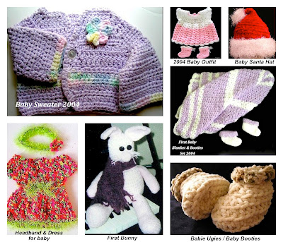 Crochet baby clothes and bunny!