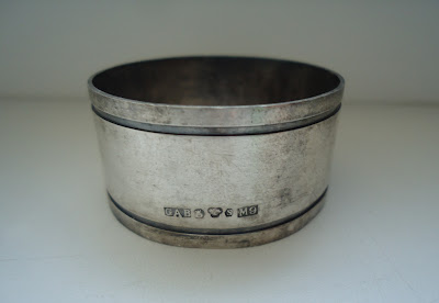 Swedish Solid Silver Napkin Ring G.A.B. M9 Rare