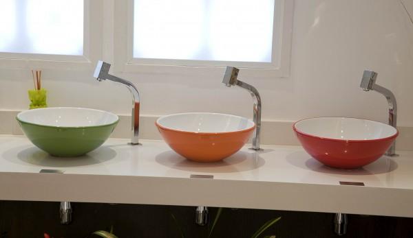 Construindo Minha Casa Clean Cubas e Torneiras de Banheiros!!! Qual escolher? -> Cuba Para Banheiro Redonda Ou Quadrada