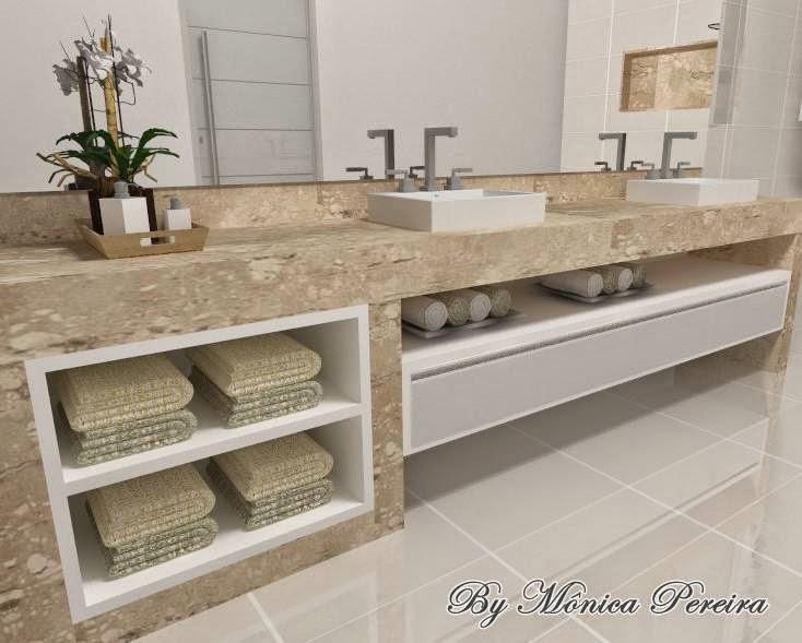 Mônica Designer Banheiros -> Decoracao De Banheiros Com Duas Cubas
