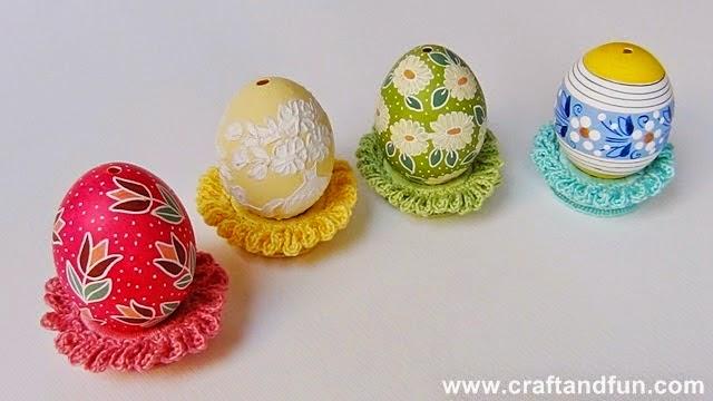 Tavola di pasqua decorazioni con origami facili - Decorazioni pasquali uncinetto ...