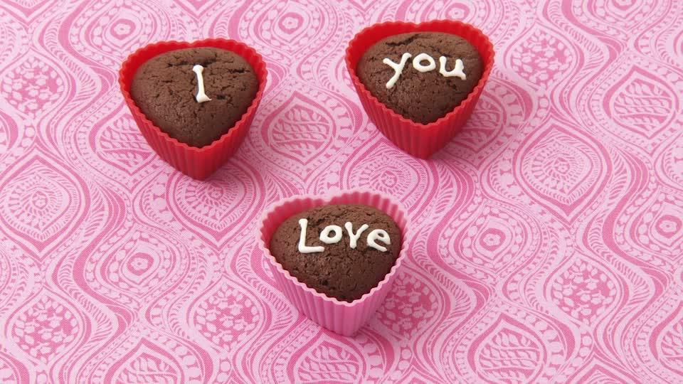 Chocolate Muffin Cute I Love You Image HD