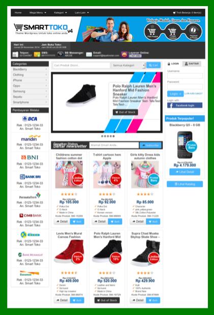 Template toko online opencart