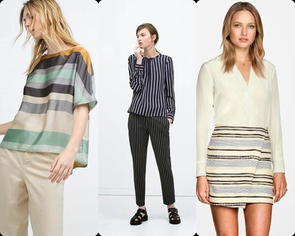 Zara Riscas - Saias, blusas, calças - Tendencia primavera-verão 2015