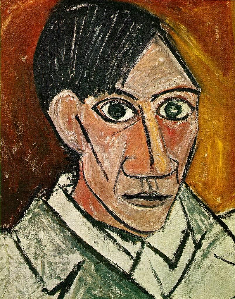 self-portrait : Pablo Picasso / パブロ・ピカソ 作品まとめ -