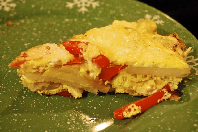 "Point-less"" Meals: Red Pepper-Potato Frittata"