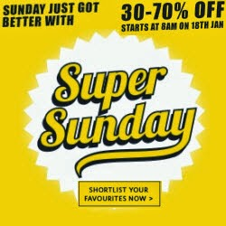 Clothing, Footwear & Accessories Flat 70% off – Myntra Super Sunday