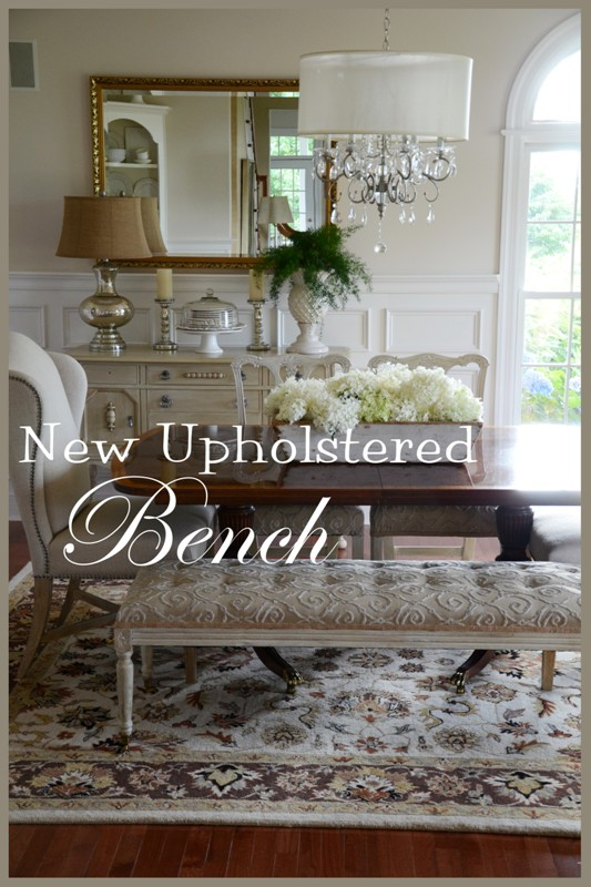 Here We Areu2026 Seven Slow Months Into My Dining Room Makeover! Today Iu0027m  Sharing The Most Recent Additionu2026 The Upholstered Benchu2026