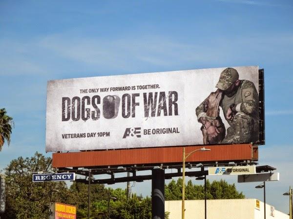 Dogs of War series premiere billboard