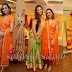 Orange Silk Salwar with Paint Work