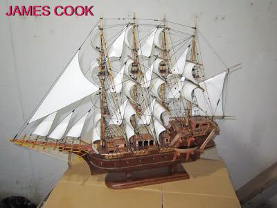 Miniatur kapal Layar James Cook, Miniatur kapal Layar, Miniatur kapal Laut
