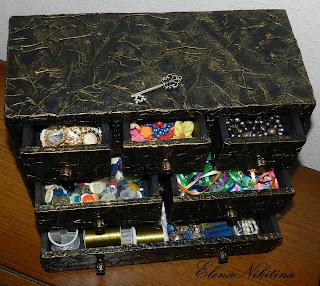 шкатулка-комод из... картона - Ярмарка Мастеров - ручная работа, handmade Подарки своими руками