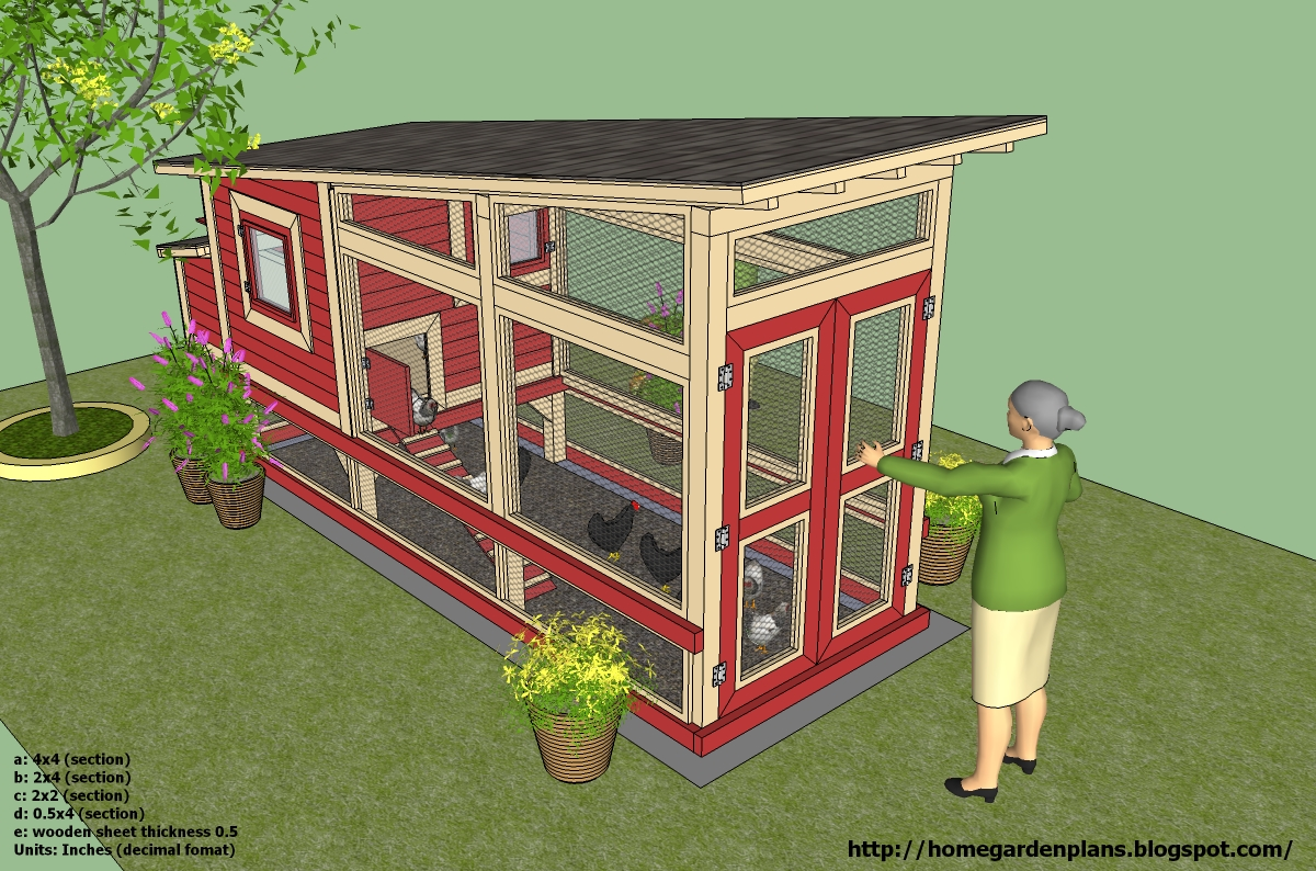 Home garden plans m100 74 x212 x104 chicken coop for Plans for chicken coops
