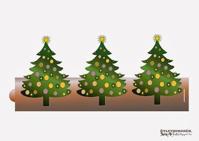 karácsonyi dísz, nyomtatható karácsonyfa