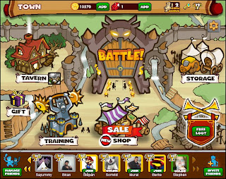 Dungeon Rampage Main screen facebook game