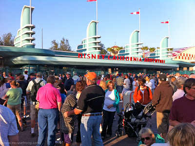 DCA Disney California Adventure Entrance Gate Line Early