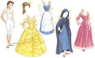 bonecas para vestir papel princesas disney príncipes imprimir