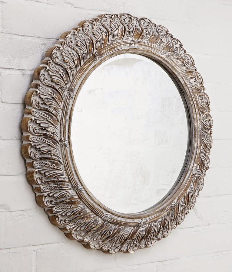 10 espejos vintage para una decoraci n de poca for Espejo con marco de espejo