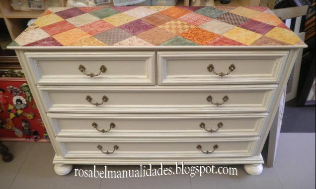 Rosabel manualidades muebles restaurados - Muebles pintados de colores ...