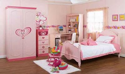 Desain Interior Ruang Tidur Pink Minmalis 02