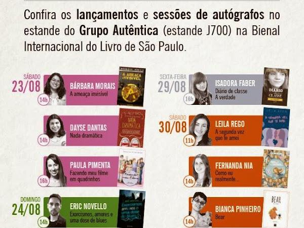 Programação do Grupo Autêntica para a XXIII Bienal do Livro de São Paulo