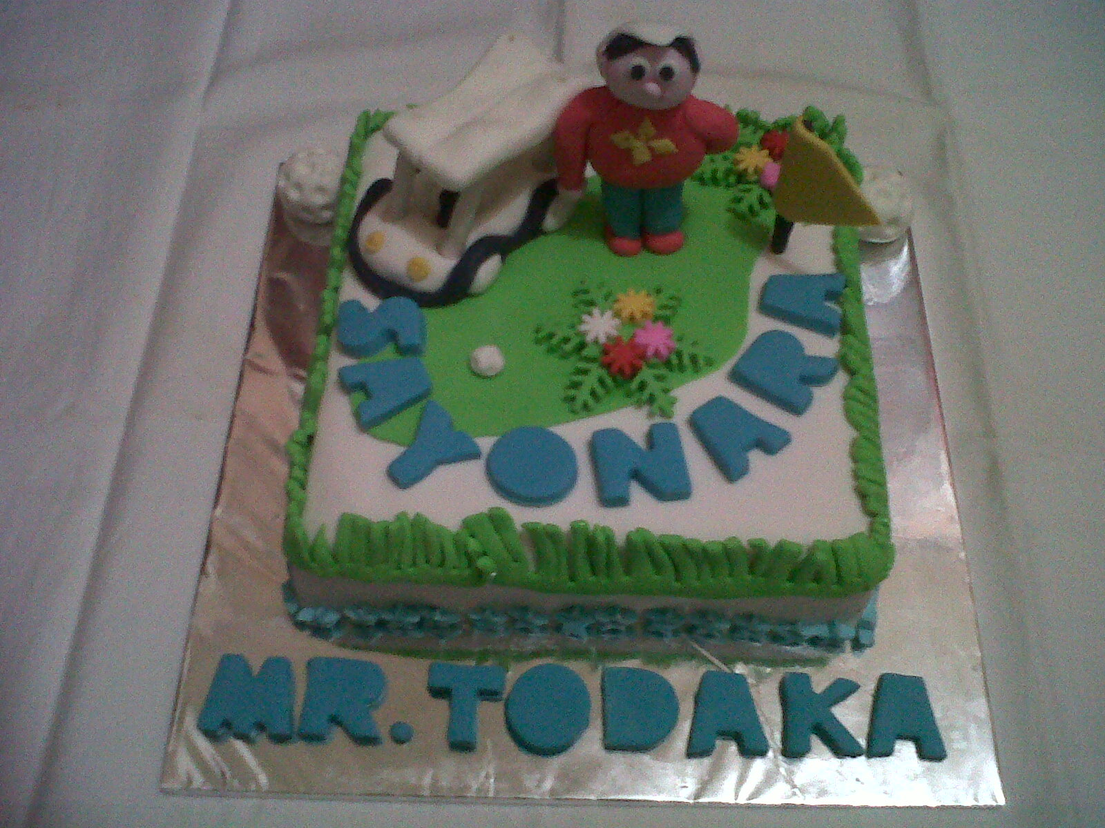 Zora Cakes Cookies Golf Cake for Mr Todaka