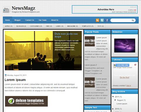 NewsMagz Blogger Theme