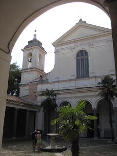 Courtyard of Basilica di San Clemente.