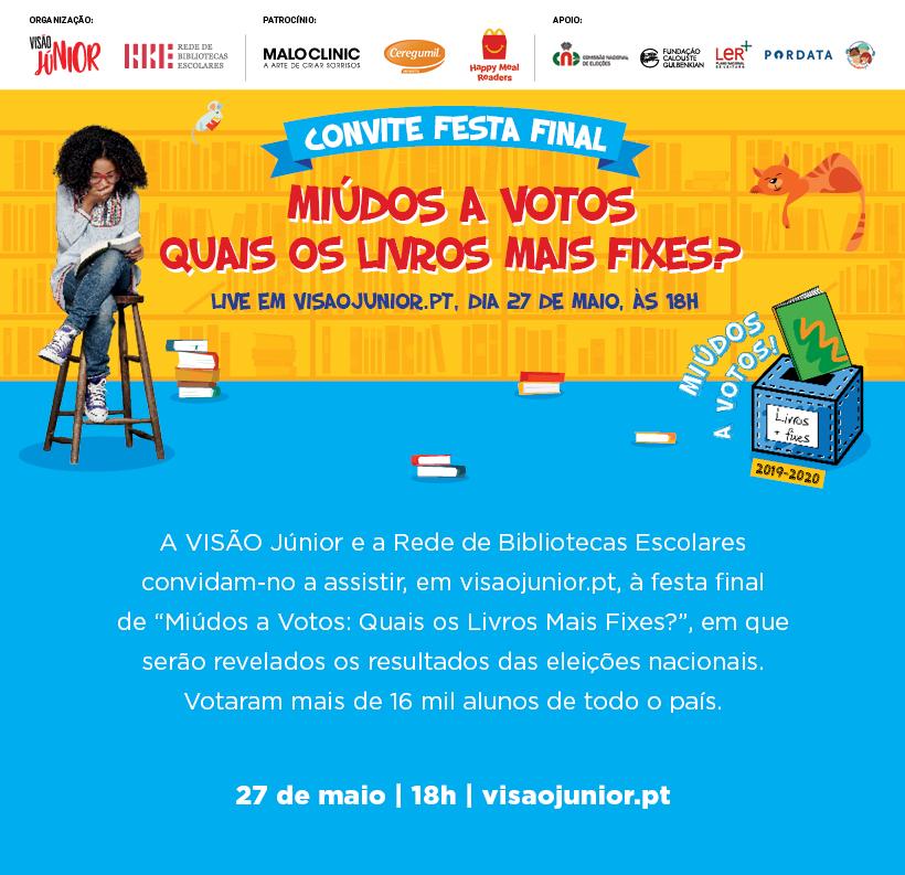 Convite Miúdos a Votos 2019 - Festa Final