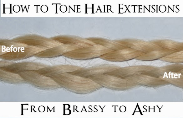 How to tone hair extensions if youre a blonde and youve ever purchased hair extensions you may know that they almost always carry a yellow brassy tone this is because they are often urmus Gallery