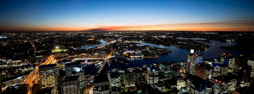 Sydney night lights facebook cover