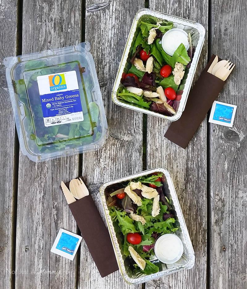 5 Road Trip Snack Hacks; salad packs