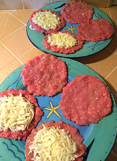 Uncooked Burger Patties in Prep Stages
