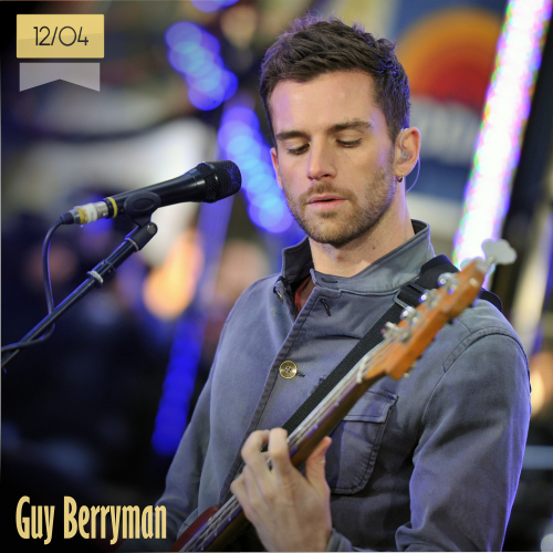 12 de abril | Guy Berryman - @coldplay | Info + vídeos